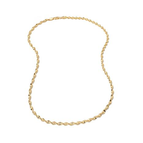 """Technibond® 4mm Magic Twisted Chain 18"""" Necklace"""