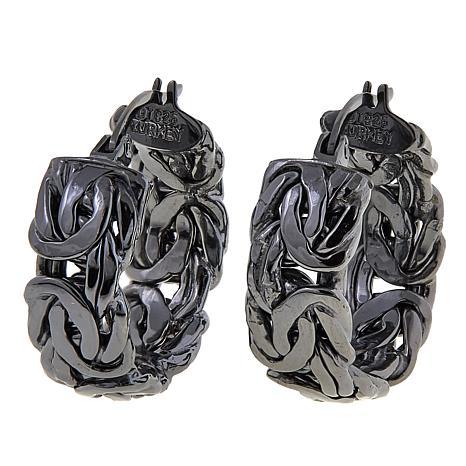 Technibond® Byzantine 8mm Hoop Earrings