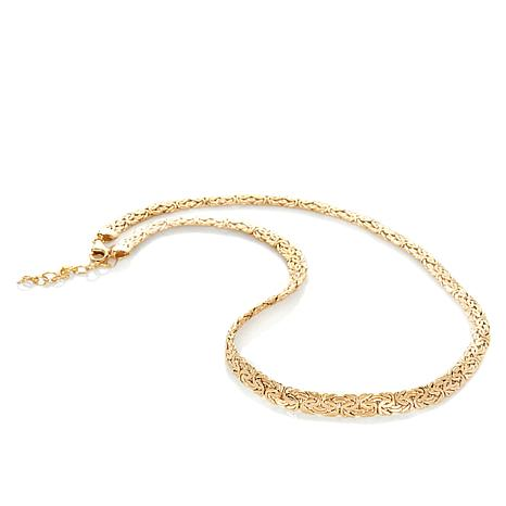 "Technibond® Classic Byzantine-Link 18"" Necklace"