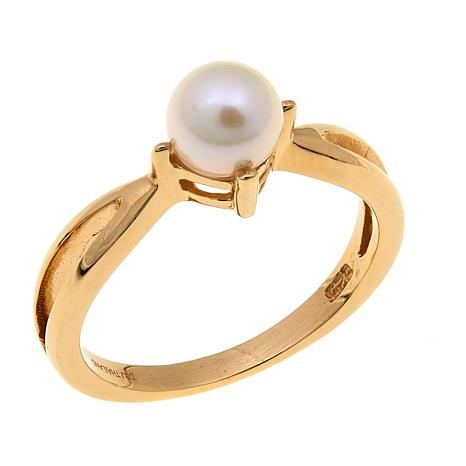 Technibond® Cultured Pearl Birthstone Ring