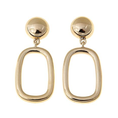 Technibond Elongated Square Drop Earrings
