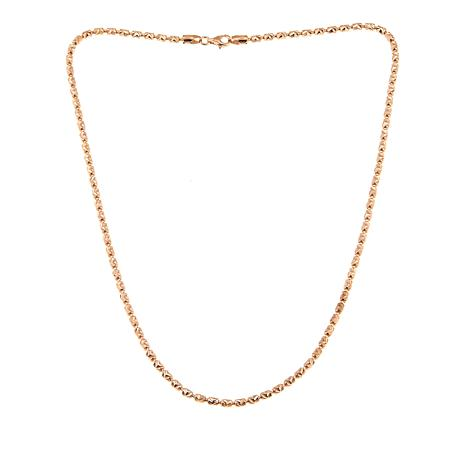 "Technibond® Etched Chevron 18"" Barrel Chain Necklace - Rose"