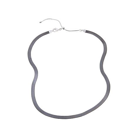 Technibond® Reversible Herringbone Adjustable Necklace