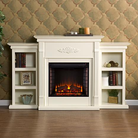 Tennyson Electric Fireplace With Bookcases