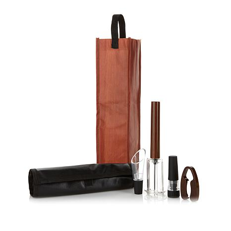The Perfect Wine Opener 4-piece Gift Set with Wine Bag