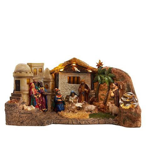 Three Kings Panoramic 2-Sided Nativity Set
