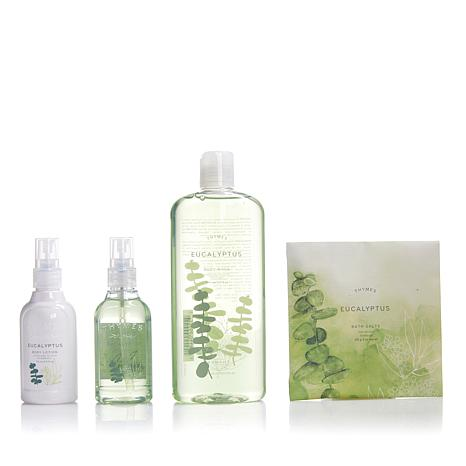 Thymes Eucalyptus Deluxe Bath & Body Set