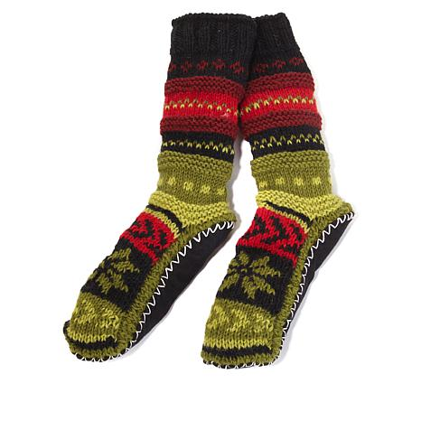 Tibetan Socks Himalayan Handknit Long Socks