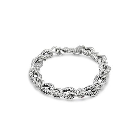 Tiffany Kay Studio Sterling Silver Herringbone-Textured Link Bracelet