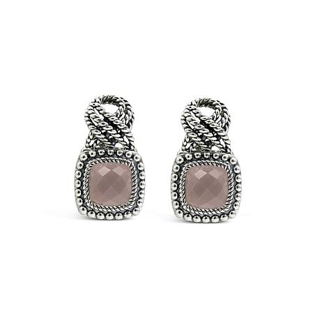 Tiffany Kay Studio Sterling Silver Rose Quartz Eyelet Earrings
