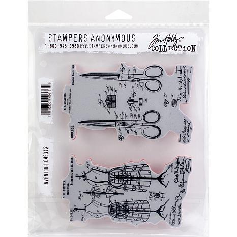"Tim Holtz Cling Stamps 7"" x 8.5"" - Inventor 3"