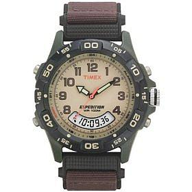 Timex Men's Analog-Digital Chrono Alarm Strap Watch