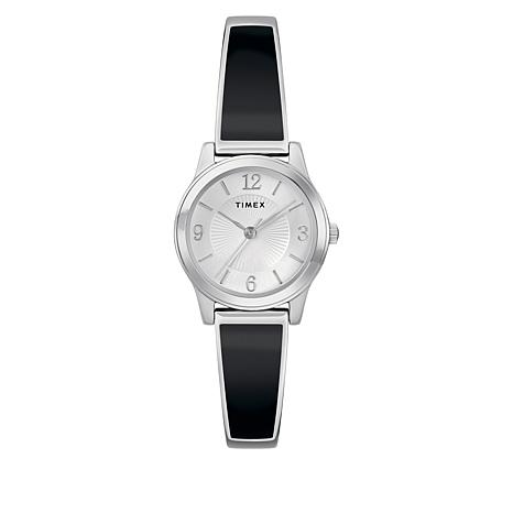 Timex Women's Stainless Steel Black Expansion Band Watch