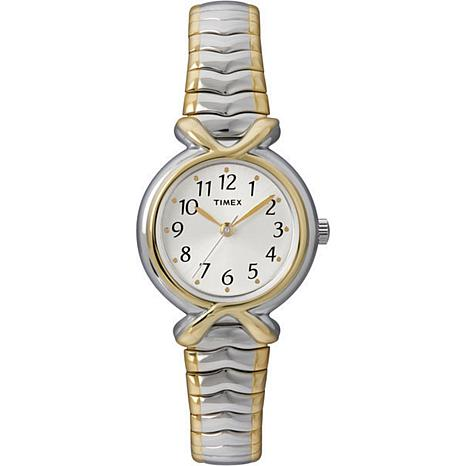 Timex Women's Sunray Dial 2-Tone Expansion Band Watch