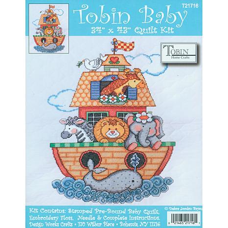 Tobin Baby: Quilt Stamped Cross Stitch Kit - Noah's Ark
