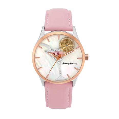 Tommy Bahama Women's Cocktail Party Spinning Lemon Watch