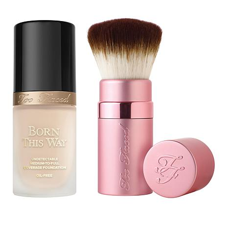 Too Faced Born This Way Snow Foundation With Kabuki Brush 8766432