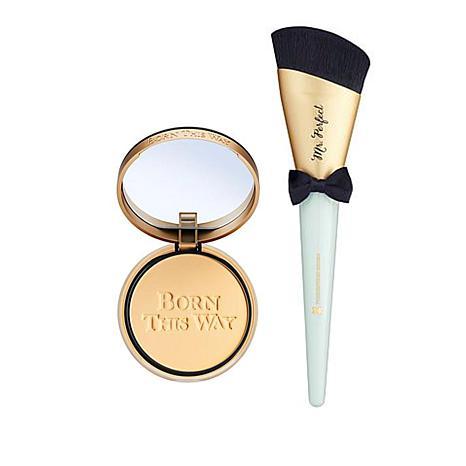 Too Faced Vanilla Born This Way Foundation Powder w/Mr. Perfect Brush