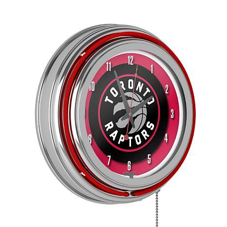 Toronto Raptors Double Ring Neon Clock