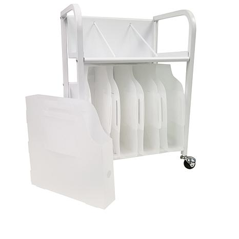Totally-Tiffany Paper Cart Combo Rolling 2-Tiered Cart with Boxes