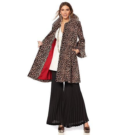 Touch of Cyn by Cyndi Lauper Velvet Swing Coat