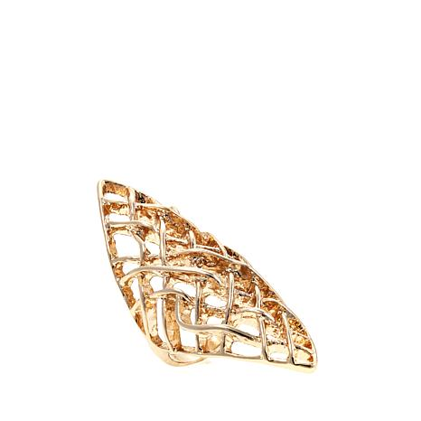 Touch of Cyn Large Lattice-Design Marquise Ring