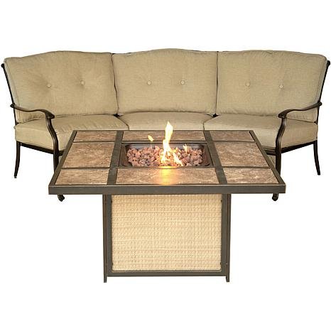 Traditions 2-piece Outdoor Lounge Set with Fire Pit