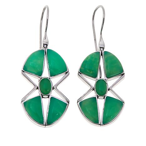 Traveler's Journey Chrysoprase Star Earrings