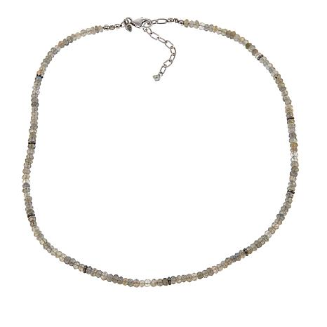 "Traveler's Journey Labradorite Bead 18"" Sterling Silver Necklace"