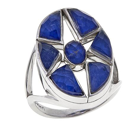 Traveler's Journey Sodalite-Quartz Doublet Ring