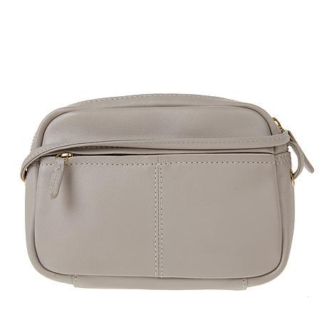 295263e086 exclusive! Tula England Small Zip-Top Grainy Leather Crossbody Bag