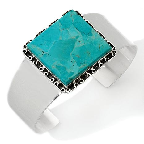 Turquoise Square Sterling Cuff