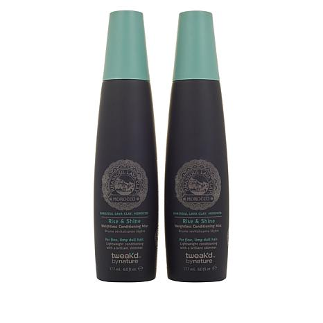 Tweak'd By Nature 2-pack Rhassoul Rise and Shine Conditioning Mist