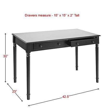 Two Drawer Writing Desk Black 6221915 Hsn
