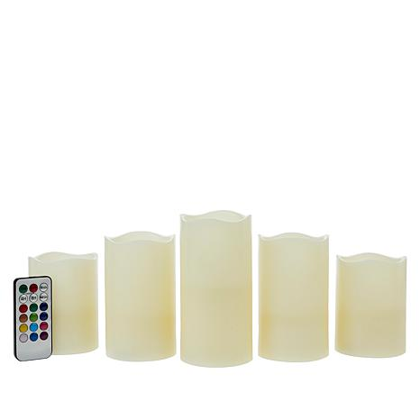 Unmatched 5-pack LED Color Changing Flameless Candles