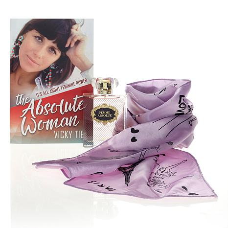 Vicky Tiel Femme Absolute Eau de Parfum with Book and Scarf