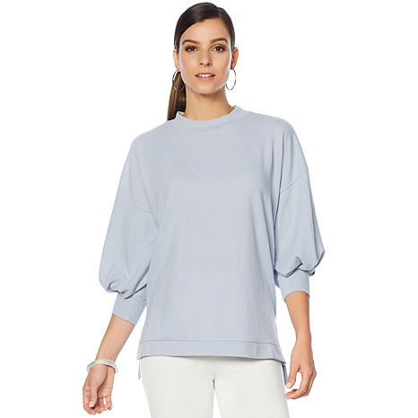 Vince Camuto Mock Neck Brushed-Jersey Top