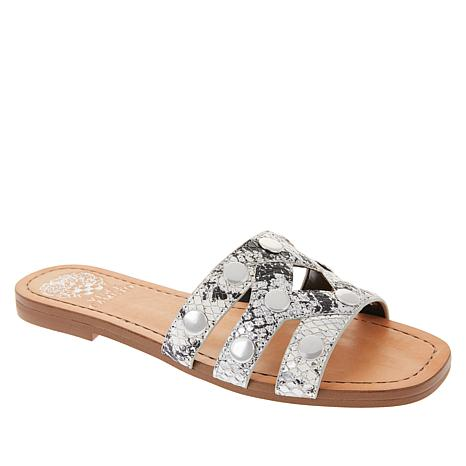 Vince Camuto Vazista Leather Studded Slide Sandal