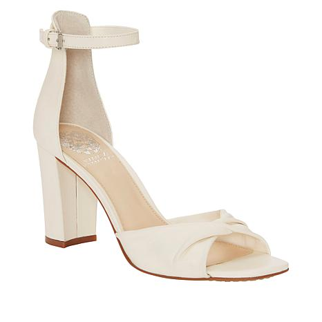 Vince Camuto Wesher Leather Ankle Strap Heeled Sandal