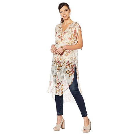 Vince Camuto Wild Flower Printed Tunic