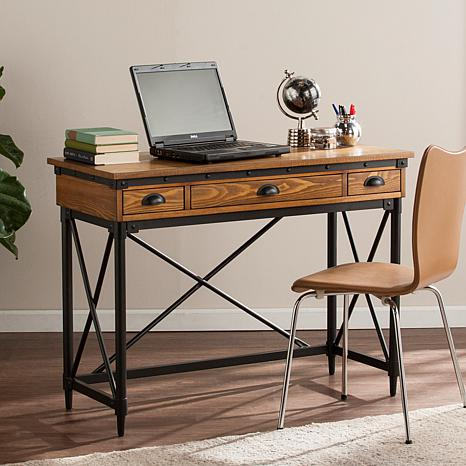 Virginia 2-Drawer Industrial Writing Desk with Tray