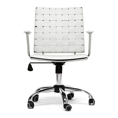 vittoria white leather modern office chair 7092235 hsn. Black Bedroom Furniture Sets. Home Design Ideas
