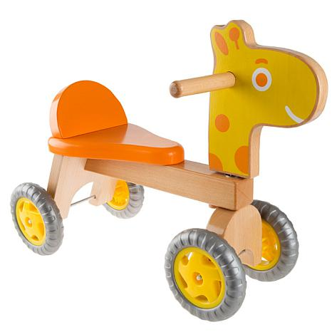 Walk and Ride Wooden Giraffe-Balance Bike by Happy Trails