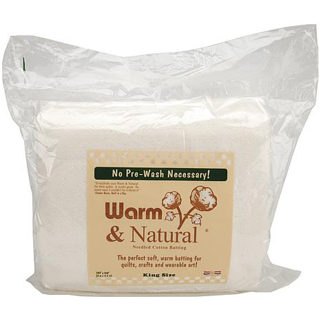 Warm and Natural Cotton Batting - King Size