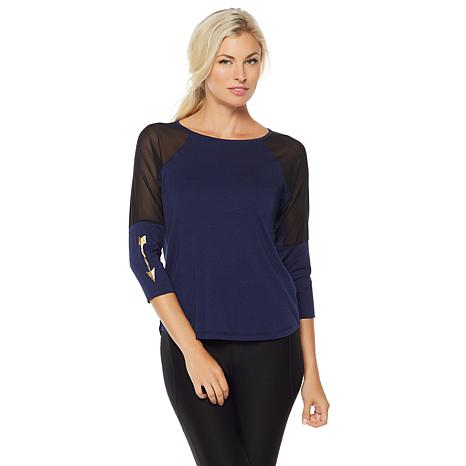 Warrior by Danica Patrick Mesh Sleeve Top