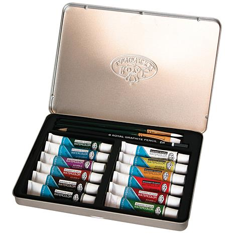 Watercolor Painting Art Set with Tin
