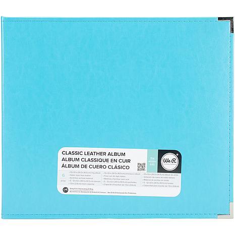 We R Classic Leather D-Ring Album 12X12 - Aqua