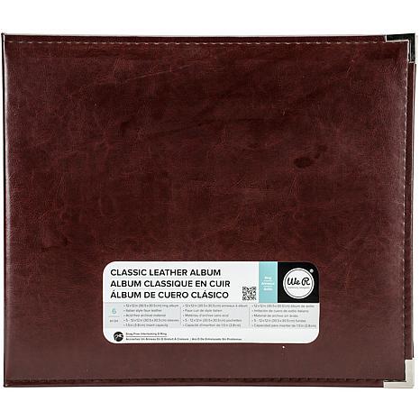 We R Classic Leather D-Ring Album 12X12 - Cinnamon