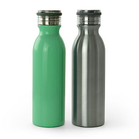 Weight Watchers 2 Piece 20 Oz Stainless Steel Hydration Bottle Set ...