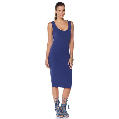 Wendy Williams Scoop Neck Stretch Knit Tank Dress